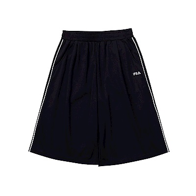 FILA KIDS 童吸濕排汗寬褲-黑 5SHT-4464-BK