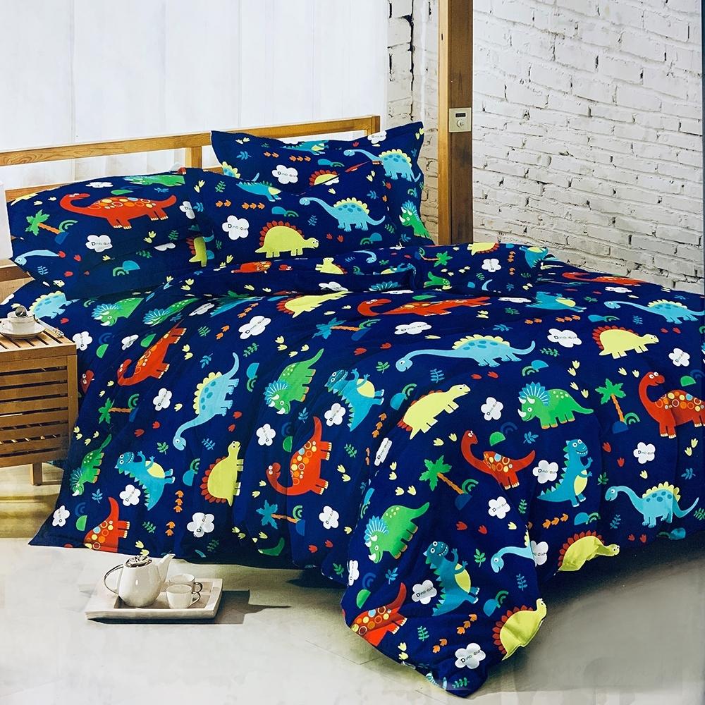 Goelia 躍動童心 親膚舒柔活性印染超細纖雙人床包枕套三件組