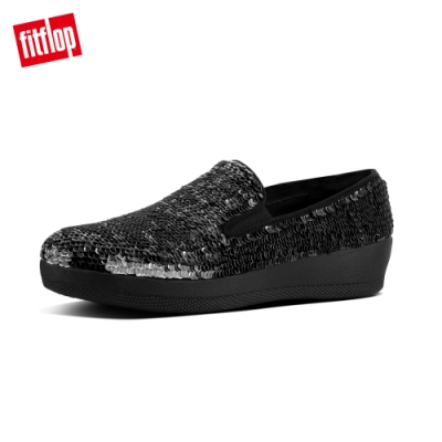 FitFlop SUPERSKATE SEQUINS LOAFERS 黑色