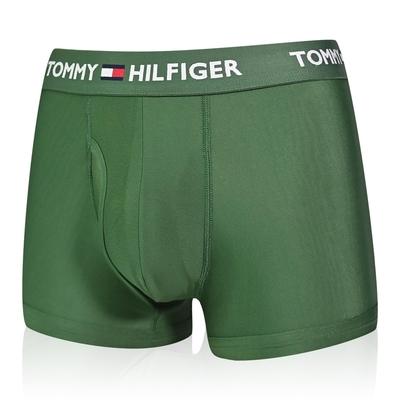 Tommy Hilfiger Everyday Microfiber 男內褲 莫代爾纖維絲質 合身平口褲/Tommy四角褲-墨綠