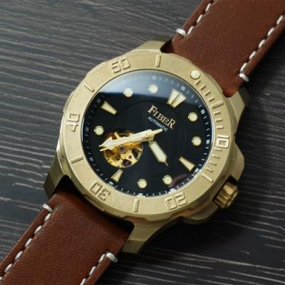 FIBER 青銅錶 海洋潛將青銅特別版-黑/43.7mm