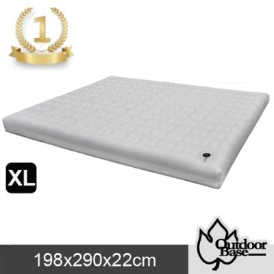 歡慶週年加贈幫浦【Outdoorbase】新款 頂級系列_優質亞棉輕量耐磨防爆歡樂時光充氣床.睡墊(XL)