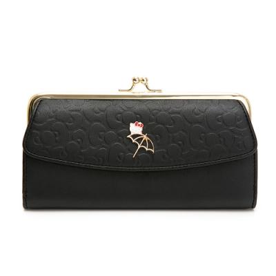 Hello Kitty聯名- 口金長夾 FRIENDLY系列-黑色
