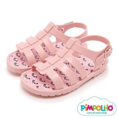 Pimpolho 貓熊羅馬小童涼鞋-粉紅