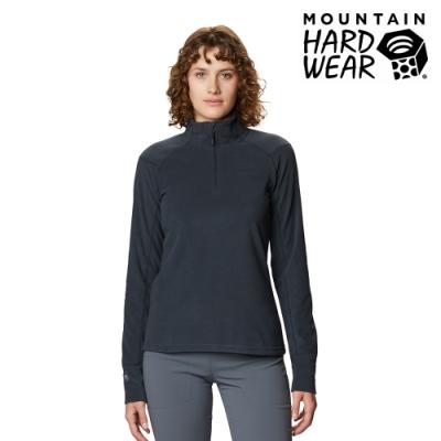 【美國 Mountain Hardwear】Microchill 2.0 Zip T-Shirt 保暖長袖排汗衣 女款 深風暴灰 #1677371