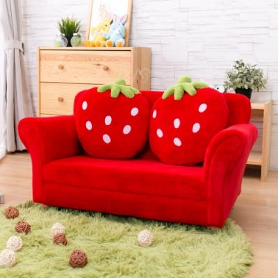 AS-紅色草莓雙人椅-90x50X48cm