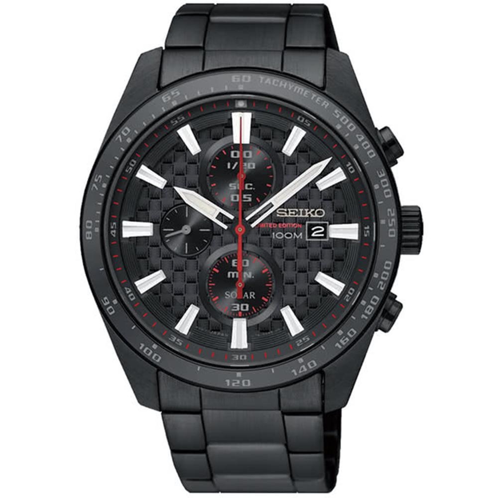 SEIKO精工Criteria編織紋男士計時腕錶V176-0AW0SD/SSC657P1