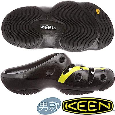 KEEN 1020294黑/彩色 Yogui Arts 男戶外護趾拖鞋/水陸兩用