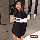 Levis 女款 大學T 字母LOGO 黑白紅色塊