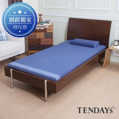DISCOVERY柔眠床墊 標準單人3尺 5.5cm厚_冰湖藍  *不含枕