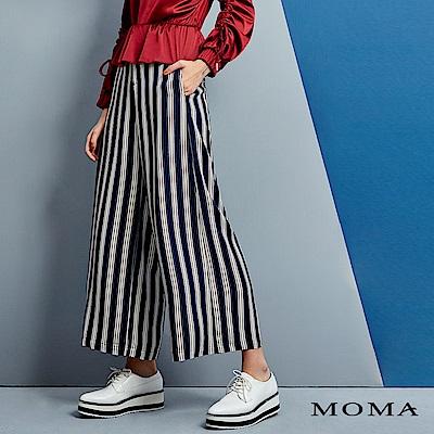 MOMA 條紋綁帶長寬褲