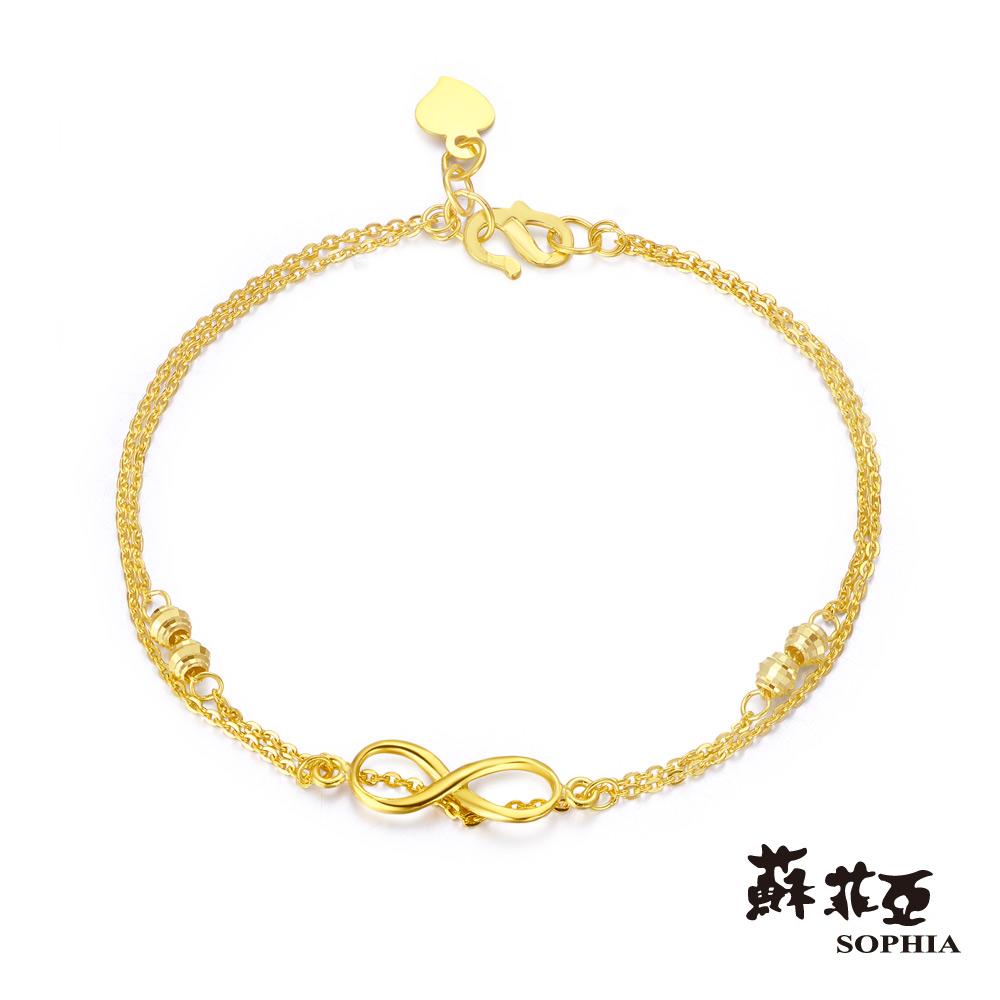 蘇菲亞SOPHIA - G LOVER系列未來無限雙鍊型黃金手環