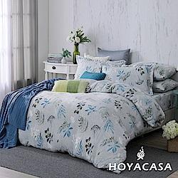 HOYACASA香榭漫步 單人三件式抗靜電法蘭絨被套床包組