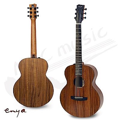 恩雅 ENYA 36吋 旅行吉他 單板HPL相思木 電木吉他(EM-X1-E) 贈原廠厚琴