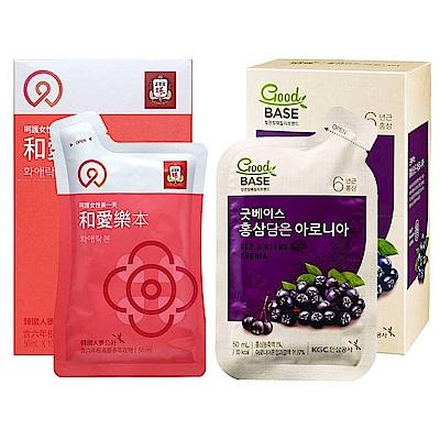 正官庄 和愛樂 本 10入+高麗蔘野櫻莓飲10入