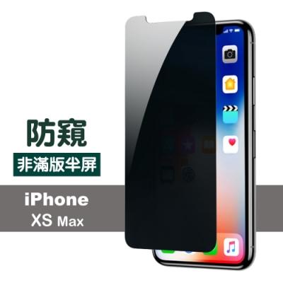 iphone XS Max 防窺 透明 非滿版 半屏 防刮 保護貼