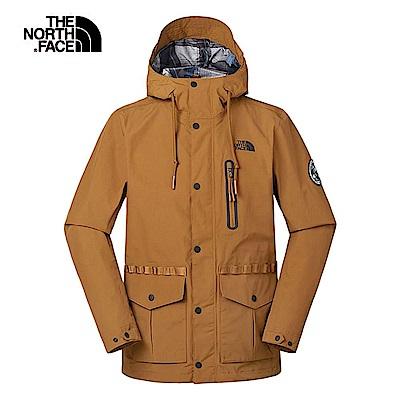The North Face北面男款棕色防風防水衝鋒衣 3V3OUBT