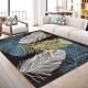 【收納職人】現代簡約輕奢北歐ins風地毯/床邊毯/茶几毯_羽毛淺色 product thumbnail 1