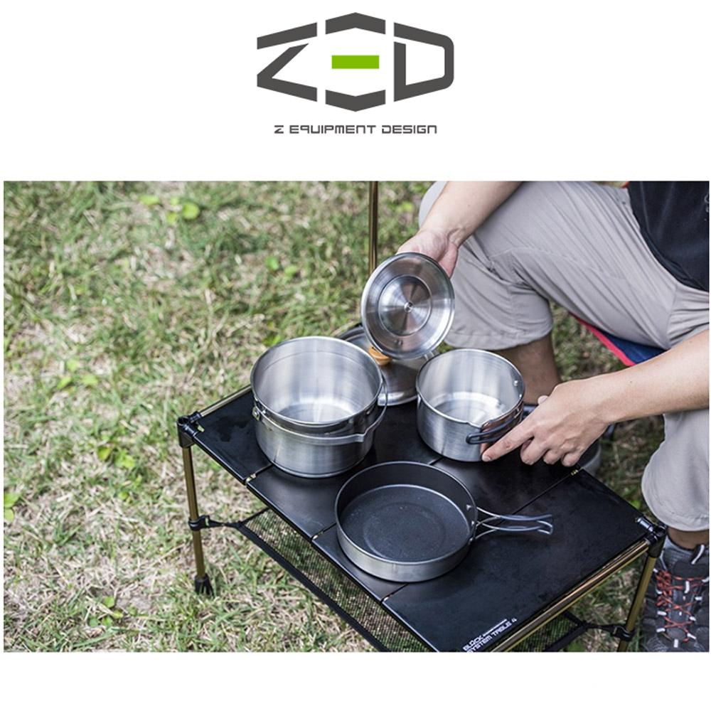 ZED 戶外不鏽鋼鍋具組23 ZEACK0201