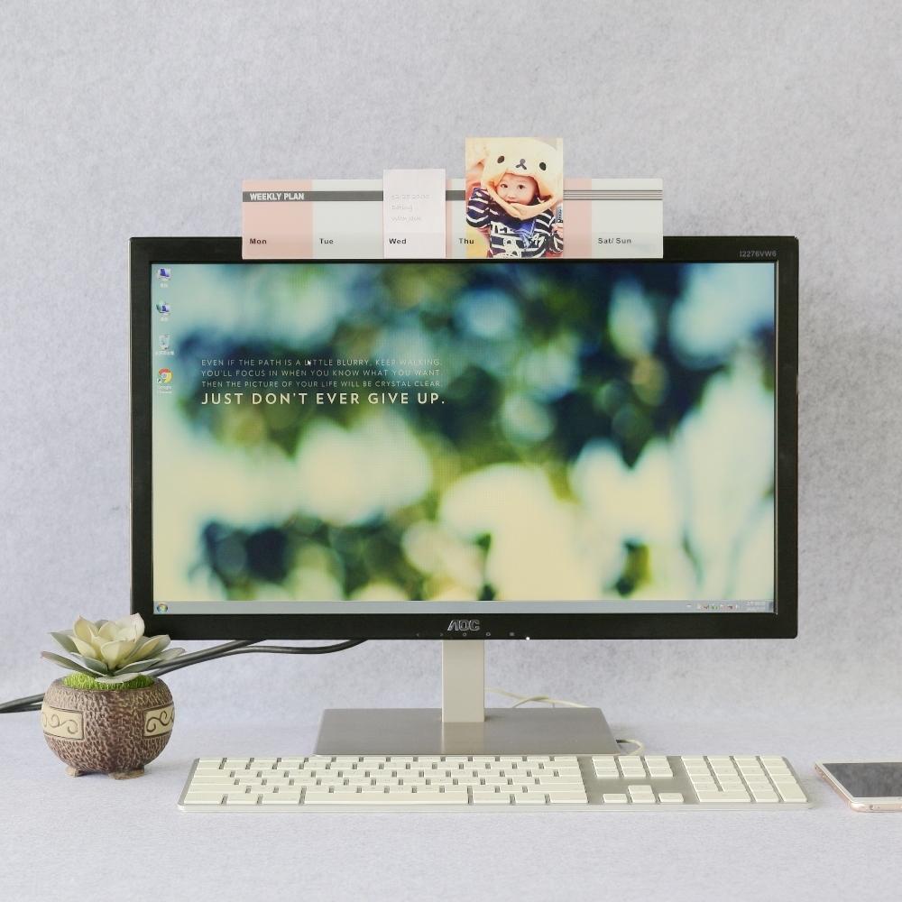 OSHI歐士 電腦螢幕留言備忘版-週計畫(粉紅)