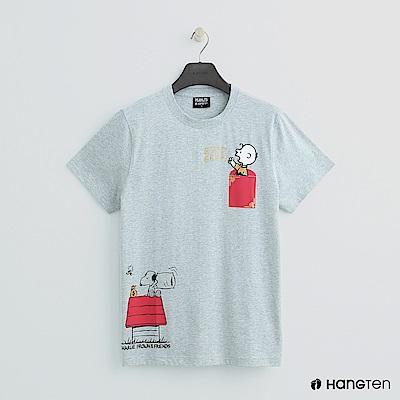 Hang Ten - 男裝 - Charlie Brown-俏皮圖樣短T-灰