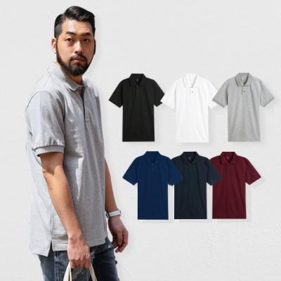 時時樂 男人幫P0056短袖素面POLO衫-三件組