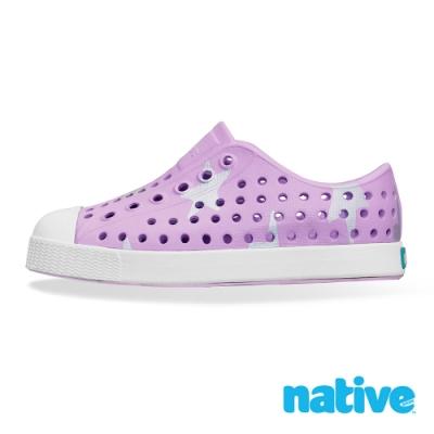 native 小童鞋JEFFERSON小奶油頭鞋-薰衣草紫x銀色星星
