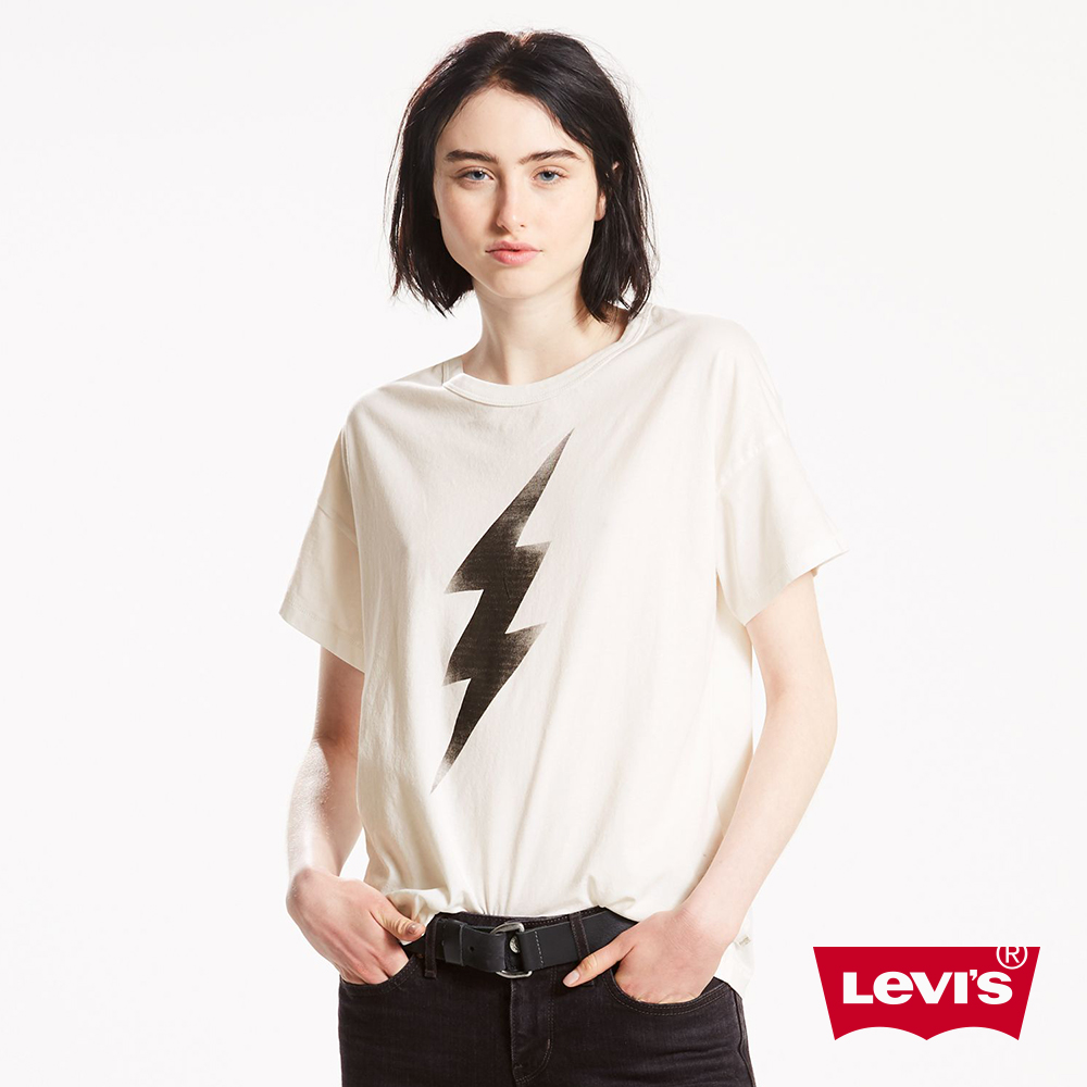 Levis T恤 女裝  短袖純棉TEE  閃電圖案