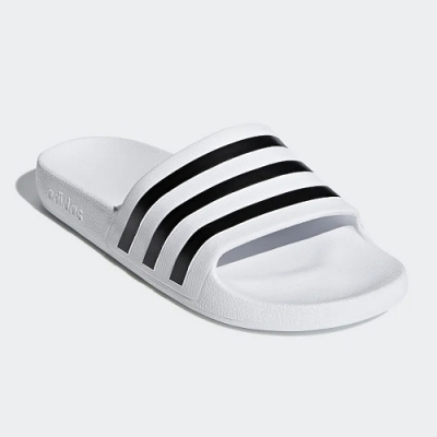 adidas 涼拖鞋 休閒 運動拖鞋 男女鞋 白 F35539 Adilette Aqua