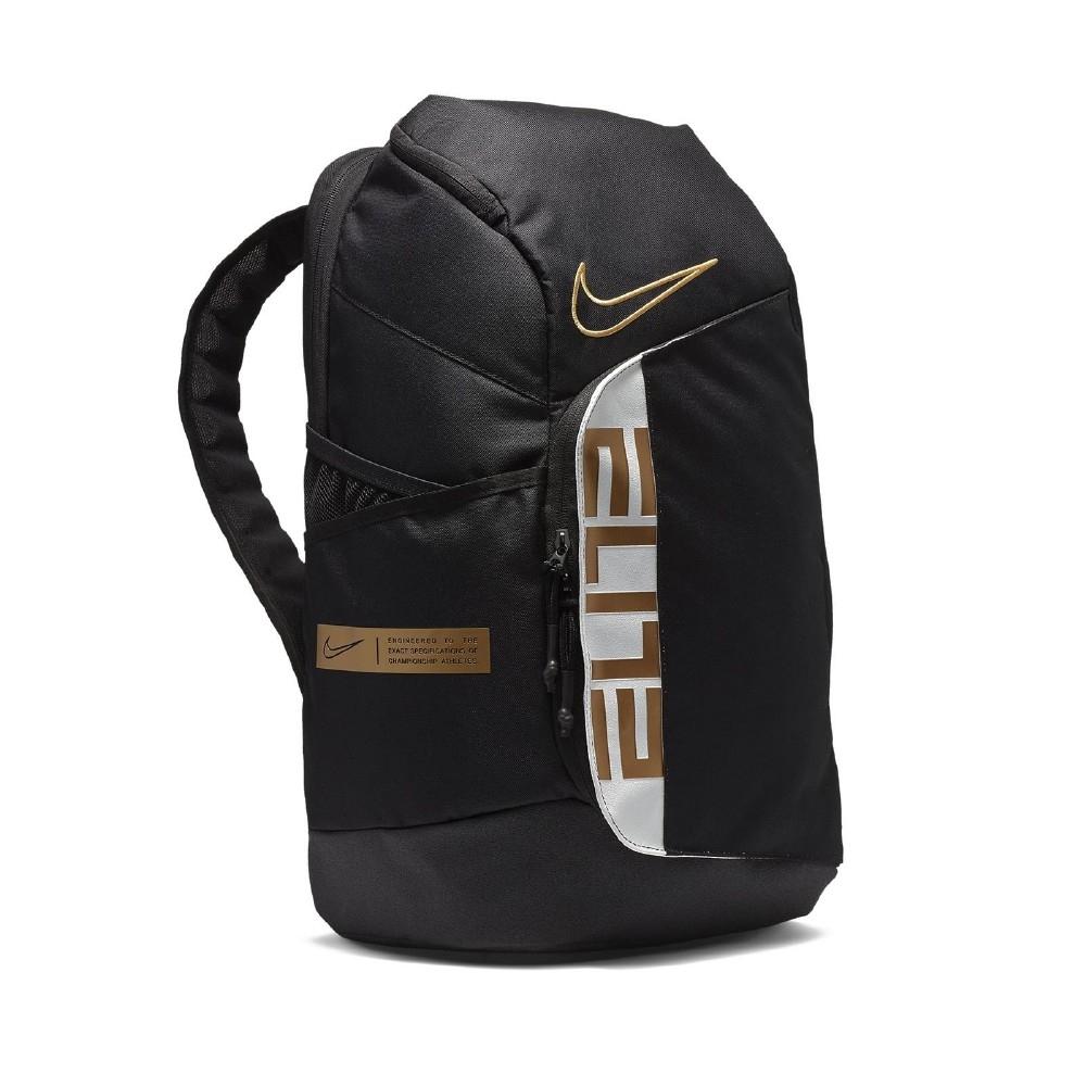 Nike 後背包 Elite Basketball BP 男款 運動休閒 籃球 大容量 筆電夾層 隔層 黑 金 BA6164013