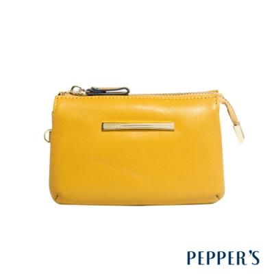 PEPPER S Ellie 羊皮三層零錢包 - 芥末黃
