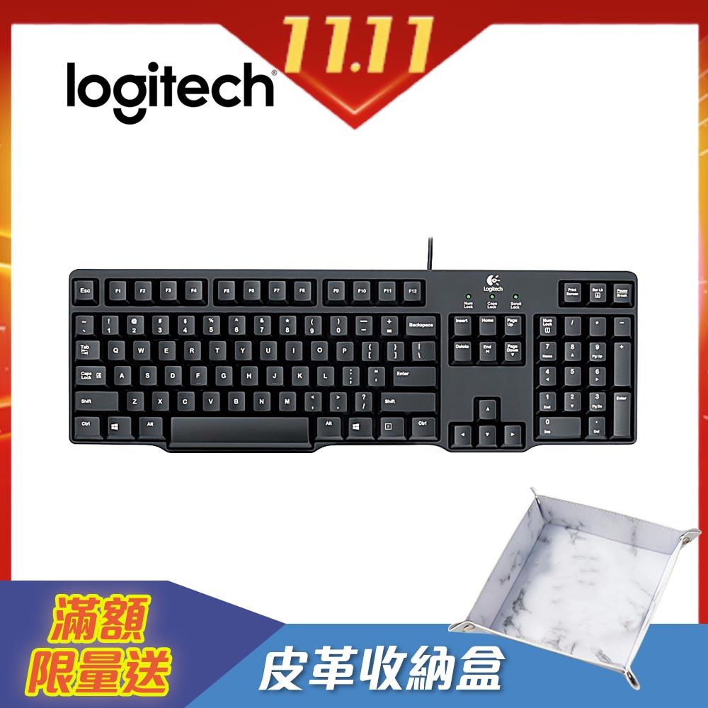 羅技 經典有線鍵盤 K100