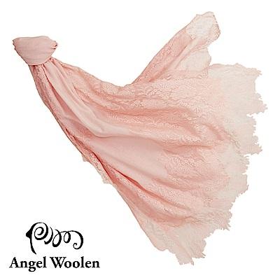 Angel Woolen】粉舞奇蹟印度手工cashmere蕾絲披肩