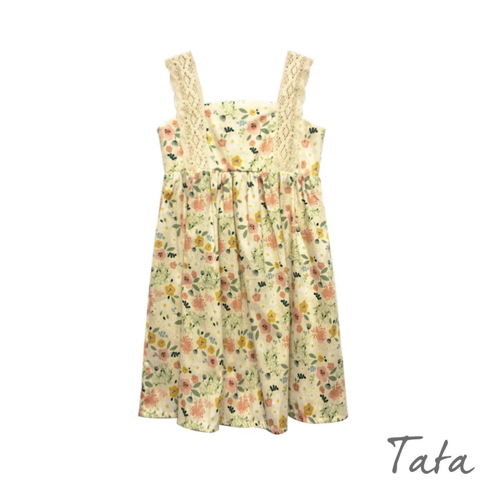 童裝 蕾絲肩帶碎花洋裝 TATA KIDS