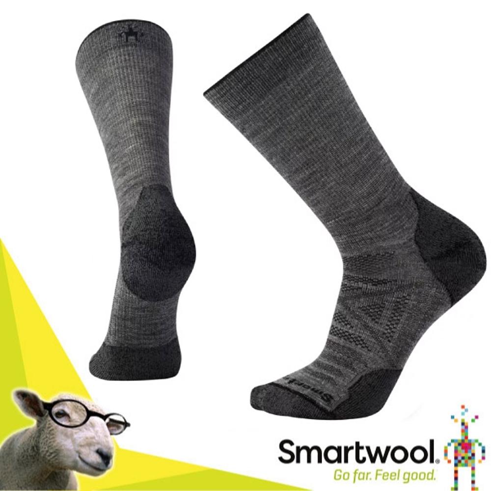 SmartWool 美國製造 美麗諾羊毛PhD 戶外輕量減震中長襪(2入)/戶外襪.排汗襪_中性灰