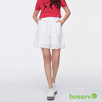bossini女裝-時尚短褲02白