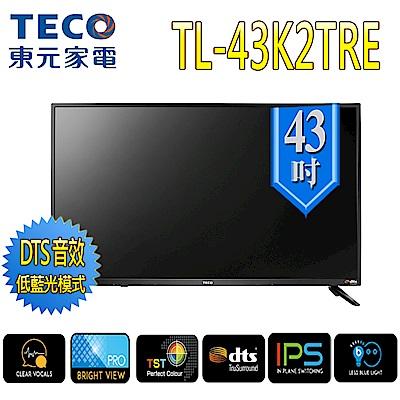 TECO東元 43型 IPS液晶顯示器+視訊盒 (TL43K2TRE+TS1308TRA)
