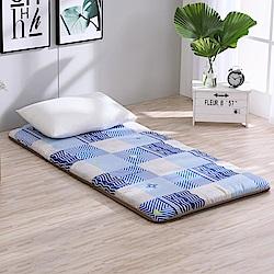 LAMINA  雅蓆兩用床墊-藍色水波5cm (單人)