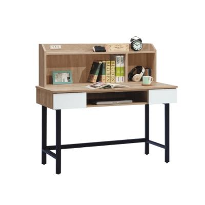 柏蒂家居-利亞4尺書桌/工作桌(上座+下座)-119x60x115cm