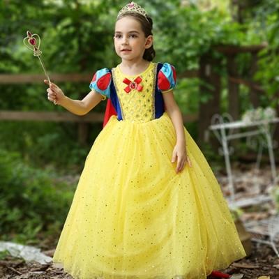 Kori Deer 可莉鹿 白雪公主蓬裙亮片公主服 女童萬聖節派對變裝禮服造型攝影