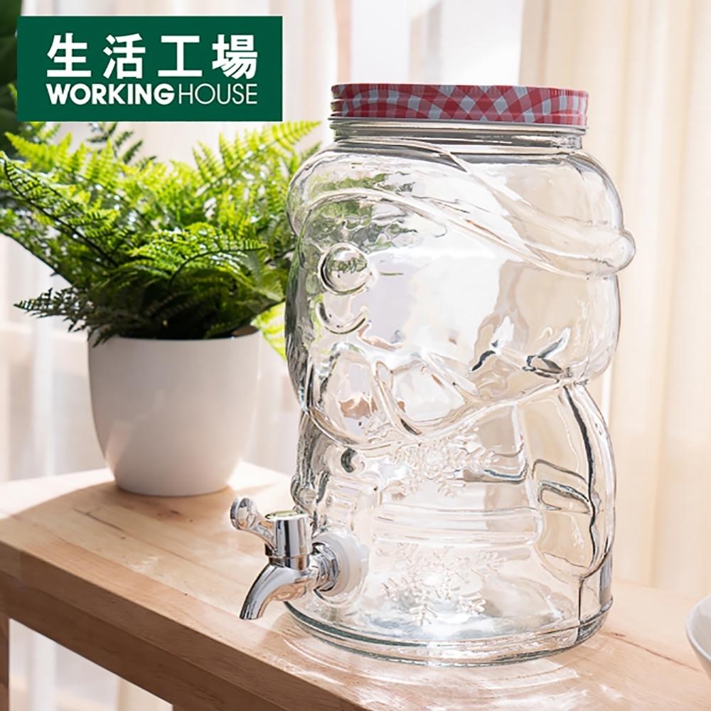【品牌週全館8折起-生活工場】歡樂聖誕老公公飲料罐桶4L