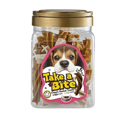 【2入組】Take a Bite潔牙咬一口-牛奶螺旋潔牙棒《花生/葉綠素》 500g