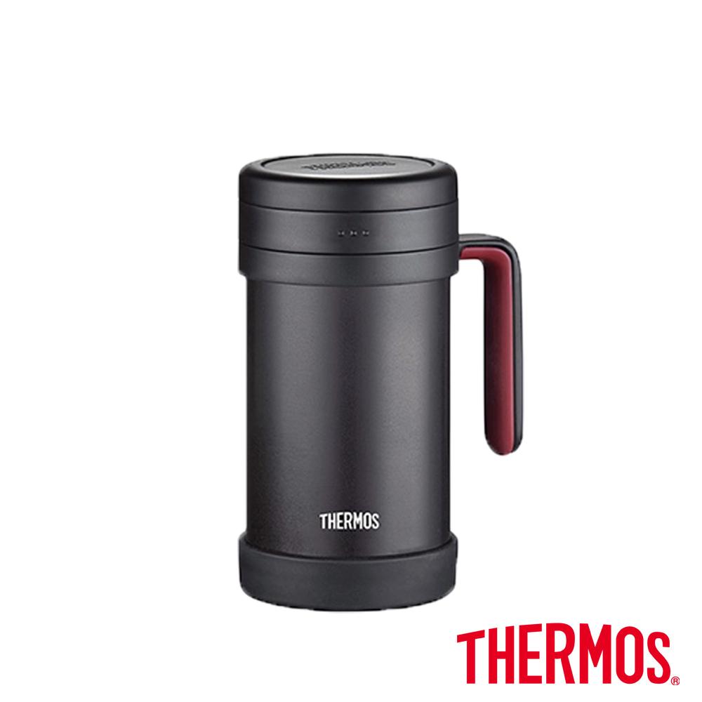 THERMOS膳魔師不鏽鋼真空保溫杯0.5L(TCMF-501)-BK(黑色)