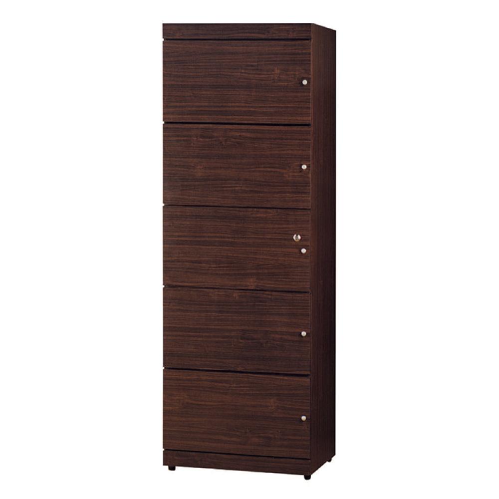 綠活居 馬波亞2尺五門置物櫃/收納櫃(二色可選)-60x42x175.5cm免組