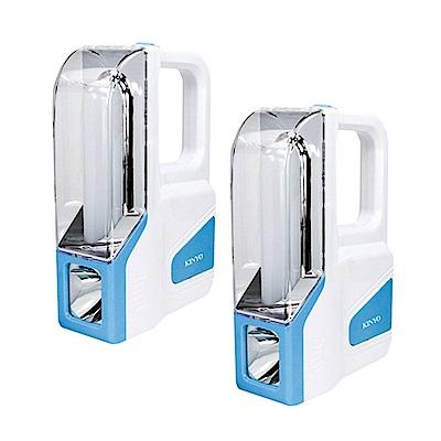 (2入組)KINYO 大廣角多用途LED應急燈/露營燈/手電筒(CP-06)充電式