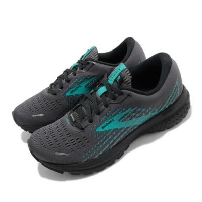 Brooks 慢跑鞋 Ghost 13 GTX 運動 女鞋 路跑 緩震 DNA科技 健身 防潑水 暗灰 綠 1203331B086