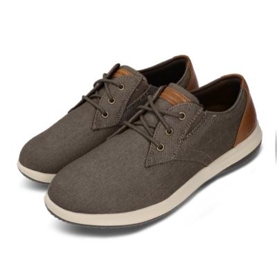 Skechers 休閒鞋 Darlow-Remego 男款 輕量 避震 緩衝 牛津鞋 穿搭 灰 棕 204092CHOC