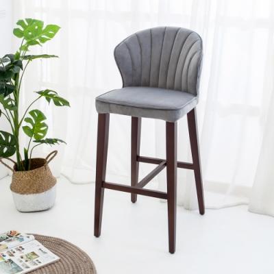Bernice-貝絲實木吧台椅/吧檯椅/高腳椅(高)(二入組合)-43x54x101cm