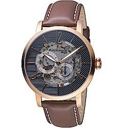 姬龍雪Guy Laroche Timepieces鏤空機械錶(GW2009C-17)