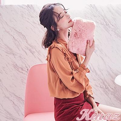KINAZ 奢華風格兩用鏈帶斜背包-玫瑰淺粉-雪絨Q萌系列